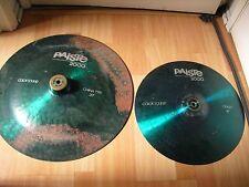 """20"""" Paiste 2000 Colorsound China and Cracked 16"""" Crash Cymbals color sound aqua"""