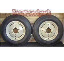 Front Wheels Tyres & Tubes x 2 to fit MF 35, Dexta, IH Tractors