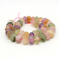 15mm*8mm Natural Stone Mix crystal Freeform Polygon beads Strand DIY 15''