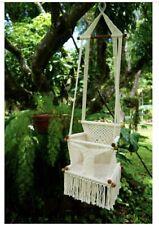 Macrame White Etsy Cotton Baby Toddler Boho Nicaraguan Swing Handmade