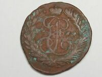 1766 Russian 2 Kopeks Coin. Catherine II. RUSSIA.  #29