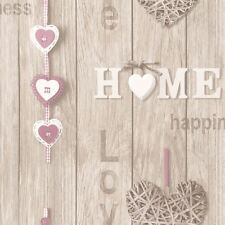 Amour Votre Maison Papier Peint - Lilas - Fine Decor Fd41720