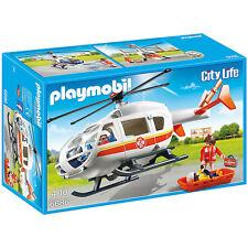 Playmobil City Life helicóptero médico de emergencia 6686 Nuevo