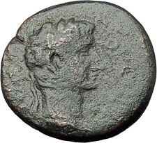 AUGUSTUS 10BC Thessalonica Macedonia Horse Authentic Ancient Roman Coin i61470
