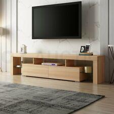 200cm TV Stand Cabinet 2 Drawers Entertainment Unit Wooden Storage Shelf - Oak