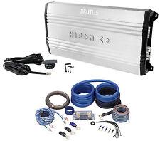 New Hifonics Brutus BRX3016.1D 3000 Watt RMS Class D Mono Car Amplifier+Amp Kit