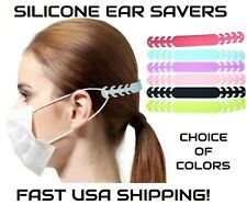 3 or 6 Ear Savers Face Mask Extenders Soft Silicon Band 4 Position~Fast Usa Ship