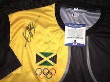 Usain Bolt Signed Rio Olympics Jersey Gold Medal 9x Gold 🇯🇲 Jamaica Beckett #4