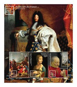 Antigua and Barbuda - 2015 - World Famous Paintings - Sheet of Three - MNH