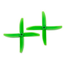 Gemfan Bullnose Polycarbonate 5040 4-Blade Propellers Green (5 pairs CW/CCW)