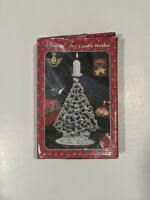 "Vintage Studio Silversmiths Silver Plated Christmas Tree Candle Holder "" IOB """
