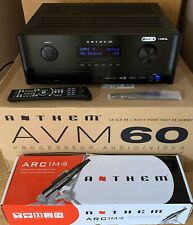 More details for anthem avm60 av cinema processor - black - atmos dts-x - arc room correction