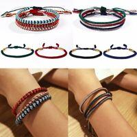 Handmade Tibetan Buddhist Braided Bracelet Lucky Knot Rope Men Women Gift Party