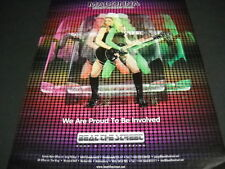 MADONNA plays guitar on STICKY AND SWEET tour Original PROMO DISPLAY AD mint