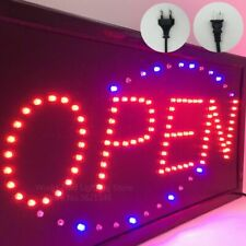 Neon LED OPEN Light Animated Motion Business Store Sign Square Signage Billboard