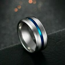 Stainless Steel Titanium Ring Men&Women Wedding Engagement Band Cool Size 6-13