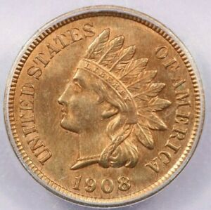 1908 Indian Cent ICG MS65RD