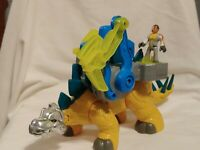 2011 Fisher Price Imaginext Dinosaur Stegosaurus w. Removable Digging Gear EUC