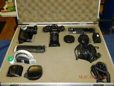 Canon A-1 35mm SLR Film Camera Kit for Close up & Macro Photography