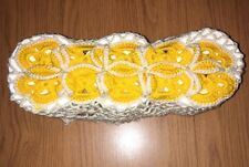 Hand Made Toilet Paper Cover Yellow & White - Fast Shipping !