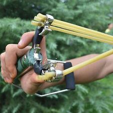 High Velocity Pro Steel Hunting Slingshot Sling Shot Sniper Catapult Wrist Brace