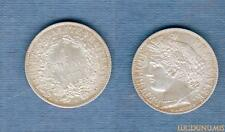III République 1871-1940 1 Francs Cérès 1872 a Paris SUP SPL Argent