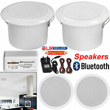 Bathroom or Kitchen Bluetooth Ceiling Speakers Wireless Amplifier Audio System