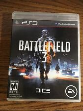 BATTLEFIELD 3 - Playstation 3 VIDEO Game PS3 COMPLETE DISC CASE PAPERWORK