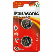Pack Of 2 Panasonic CR2032 Lithium Coin Cell 3V Battery Car Key Fobs Toys Remot