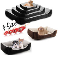 Soft Pet Cat Dog Basket Bed Waterproof Washable Deluxe Fleece Warm Comfy Cossy