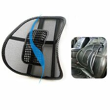 Mesh Back Lumbar Massage Support Beads For Car Seat Massage Cushion Breathable