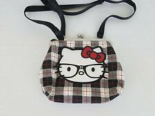 Hello Kitty by Sanrio LoungeFly Black Red Plaid Snap Closure Shoulder Bag Purse