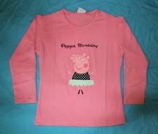 PEPPA PIG LONG SLEEVE BIRTHDAY TSHIRT SIZE 6  NEW FREE POSTAGE