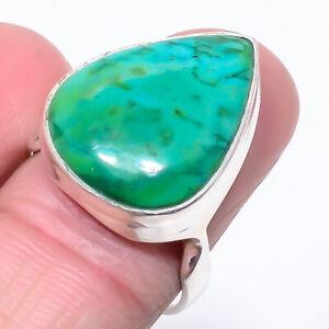 Chrysocolla Designer Handmade 925 Sterling Silver Jewelry Handmade Ring s.9 S267