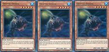 YUGIOH CARD - 3 X DEPTH SHARK -  DUELIST SAGA   DUSA-EN003