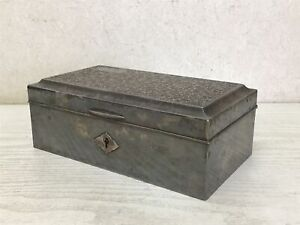 Y2026 BOX Silver Arabesque pattern engraving Japanese antique Japan storage