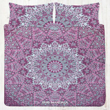 Indian Pink Elephant Mandala Bedding & Bohemian Queen Size Bed Sheet Set Pillow