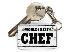 Worlds Best Chef Cute Novelty Keyrings Fun Cheap Birthday Gift Key Present