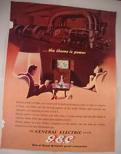 Full Page 1953 Vintage Magazine Advert General Electric Co TV & Industrial