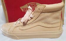 Vans New Sk8 Hi Slim Cutout Leather Square Perf Vault Skate Shoe Women Size 5.5