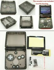 GBA SP Game Boy Advance SP Replacement Housing Shell Transparent Clear Black!