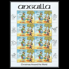 Anguilla, Sc #0603, High Value, Sh, 1984, Mnh, Christmas, Postman Disney, 278-5