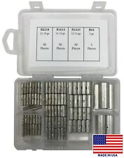 (155) Large Non-Insulated Butt Connector Uninsulated Bare Splice Assortment Kit