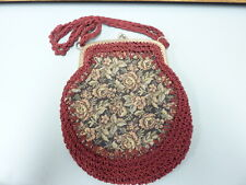 New listing metal frame purse with tapestry on one side Made in Italy