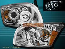 07-12 DODGE CALIBER SRT-4 SXT R/T DUAL CCFL HALO LED PROJECTOR HEADLIGHTS CLEAR