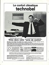 PUBLICITE ADVERTISING 034 1965 TECHNOBEL  climatiseur
