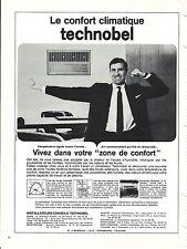 PUBLICITE ADVERTISING 034 1965 TECHNOBEL  climatiseur