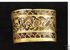 Museum Postcard - The Staffordshire Hoard - Gold Sword Hilt  8001