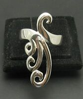 STYLISH LONG STERLING SILVER RING SOLID 925 PLAIN NEW SIZE H - Z R000959