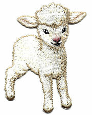 LAMB - FARM ANIMAL - IRON ON EMBROIDERED PATCH - CUTE CRITTER, PETS
